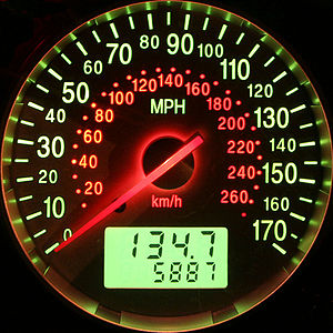 Speedometer in Ford Mondeo ST220 (MK3) (highli...