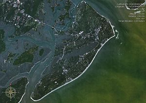 Satellite image of Hilton Head Island, South C...