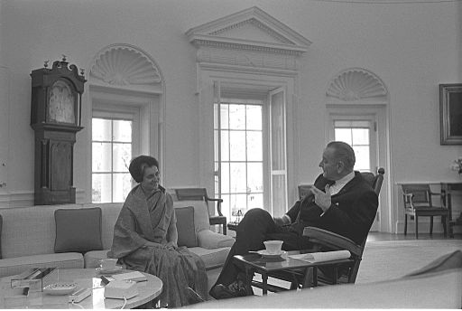 Indira Gandhi and LBJ