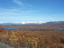 Interior Alaska   Wikipedia Lakes and peaks of the Alaska Range seen from the Denali Highway
