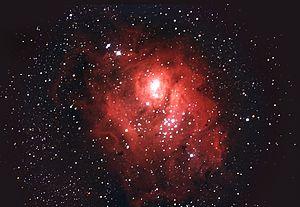 Nebulosa de la Laguna, número de catálogo M8. ...