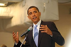 Barack Obama in Des Moines, Iowa