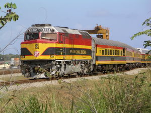 English: Panama Canal Railway - Passenger Trai...