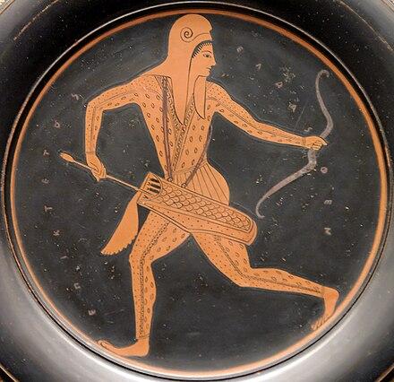 Wizerunek scytyjskiego łucznika na czerwonofigurowym kyliksie z końca VI w. p.n.e.