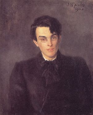 en: Portrait of young William Butler Yeats by ...