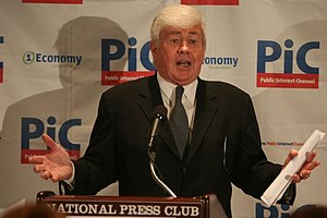 English: Jack Kemp speaks at the National Pres...
