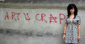 English: 'Art is Crap' - 35 x 60cm - digital p...