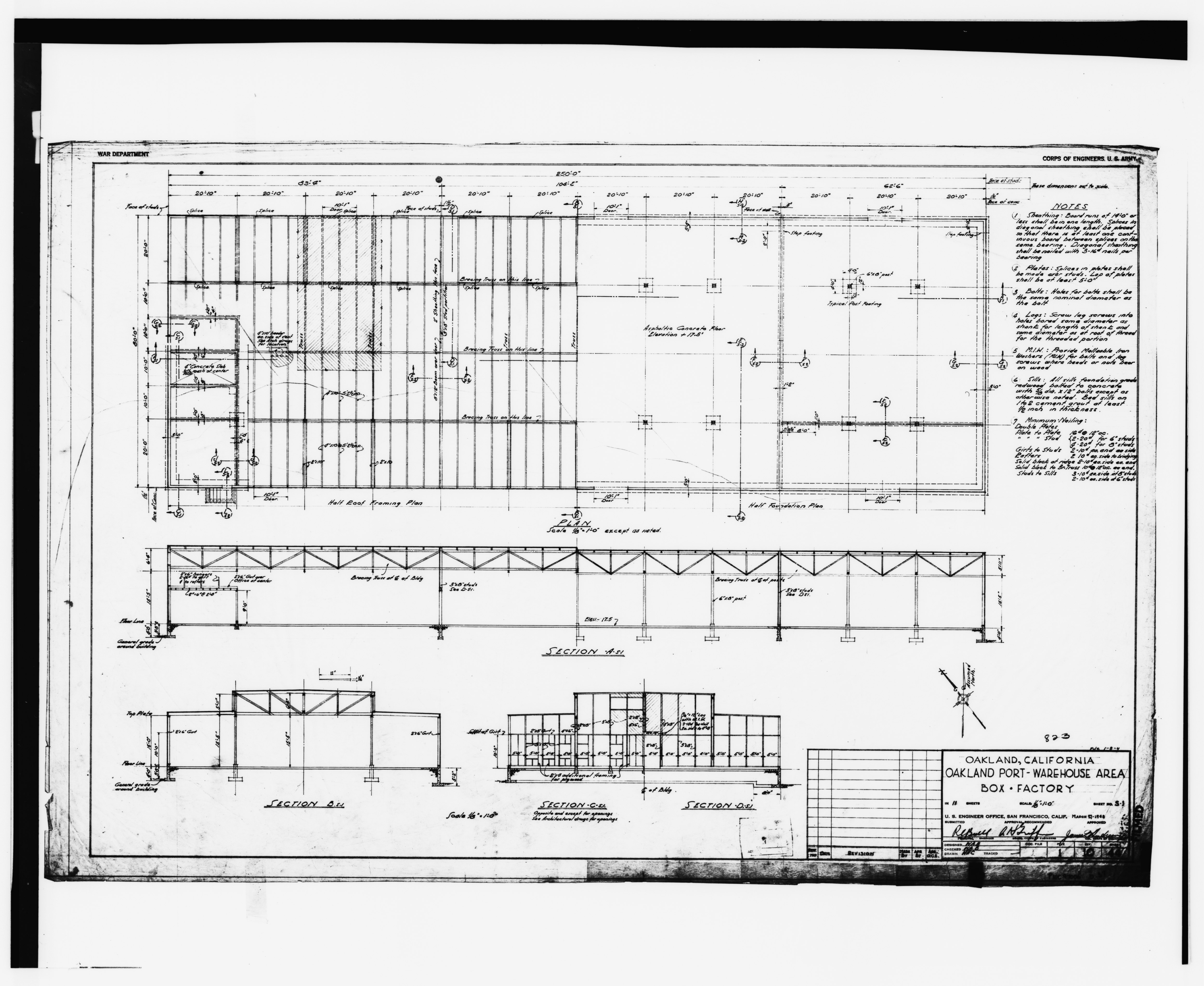File Box Factory Sections Sheet No 1 10 44 S1 Of 11