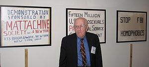 Pioneering gay rights activist Frank Kameny st...