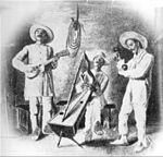 Un conjunto musical interpreta un joropo. Fotograf�a de Eloy Palacios, 1912.
