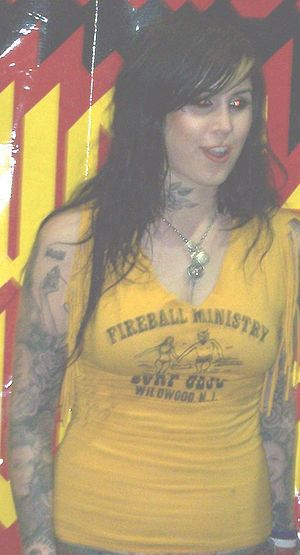 Kat Von D, of LA Ink, at the 2007 Calgary Tatt...