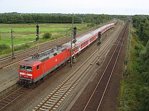 en: Regional train of the Deutsche Bahn AG dep...