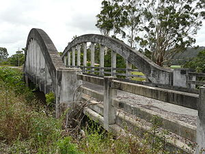 Shark Creek Bridge near Maclean, originally pa...
