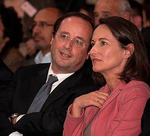 François Hollande and Ségolène Royal at a poli...