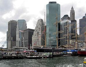 Southern Manhattan from Staten Island ferry