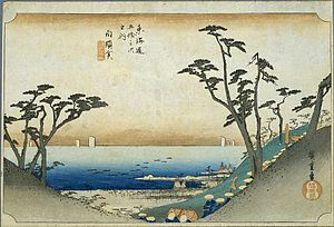 Shirasuka on the Tokaido, ukiyo-e prints by Hi...