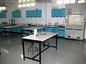 English: Second Floor Life Science Lab at Well...