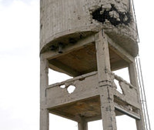The Damaged Water Tower In Beerot Yitzhak