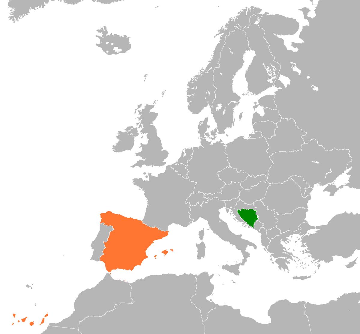 Bosnia And Herzegovina Spain Relations Wikipedia