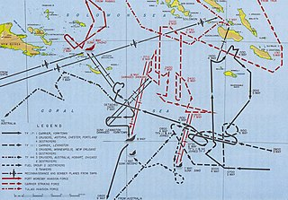 Map of the Battle of Coral Sea.  From Wikipedia via a U.S. Army publication.