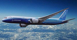 English: Artist impression of Boeing 787-9 Dre...