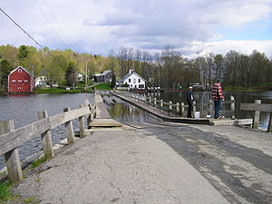 Floating Bridge in Brookfield, Vermont.