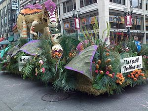 A float in the 2008 Grand Floral Parade of the...