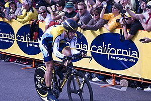 English: Lance Armstrong in the Solvang, Calif...