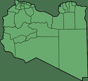 Die neuen Gemeinden (Munizipien) in Libyen. Be...