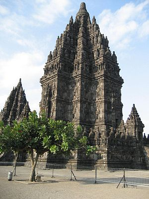 Main shrine (Shiva) of Prambanan temples in Yo...