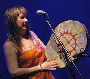 Mari Boine peforming in Warszawa, Poland in Se...