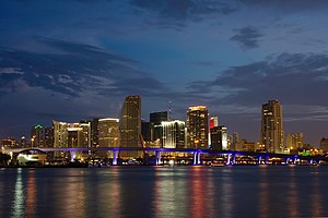 English: Downtown Miami, Florida, on the 4th o...