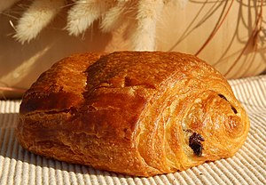 A Pain au chocolat from a Belgian Bakery.