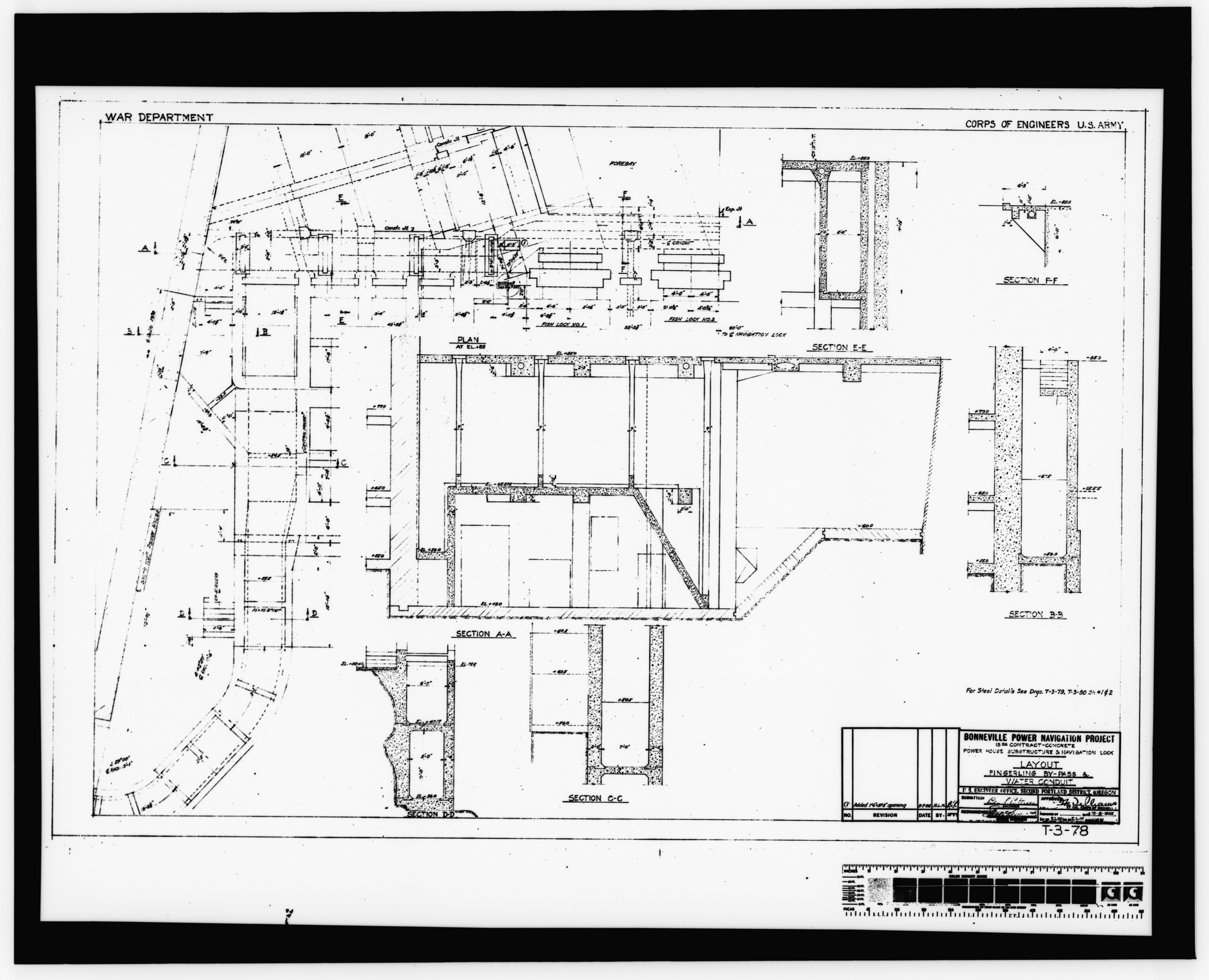 File Photocopy Of Original Construction Drawing Dated 8