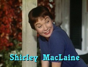 Cropped screenshot of Shirley MacLaine from th...