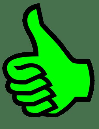 Symbol thumbs up green