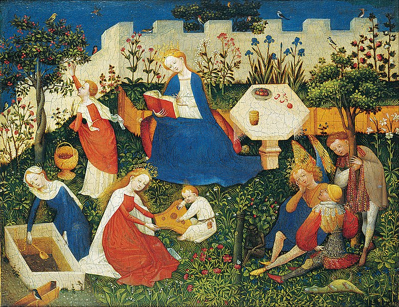 File:Upper Rhenish Master - The little Garden of Paradise - Google Art Project.jpg