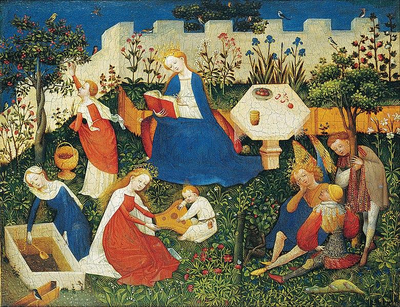 File:Upper Rhenish Master - The little Garden of Paradise - Google Art Project.jpg