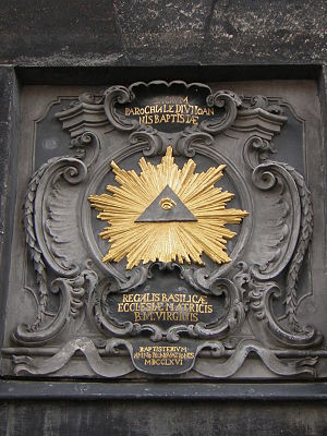 An all-seeing Eye of Providence that appears o...