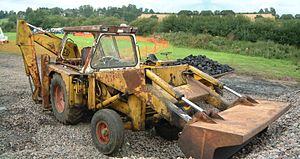 English: A JCB 3CII built in the 1970s at Nort...