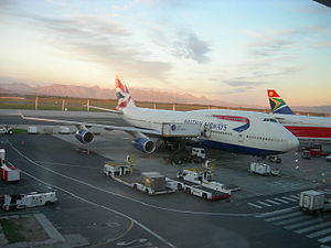 British Airways Boeing 747-400 parked at Cape ...