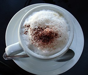 Foam on a cappucino.