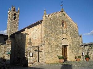 English: Church of St. Mary - Monteriggioni, I...