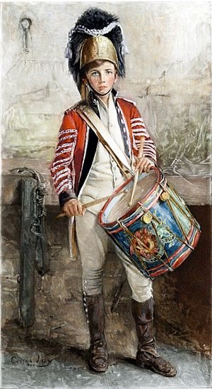An English drummer boy.
