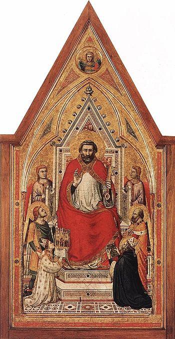 The Stefaneschi Triptych: St Peter Enthroned