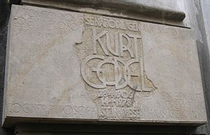 Commemorative plaque at the birthplace of Kurt...