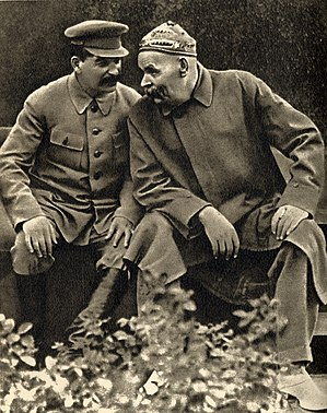 Joseph Stalin and Maxim Gorky, 1931.