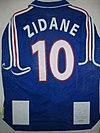 Camiseta de Zinedine Zidane, en la Selección de fútbol de Francia