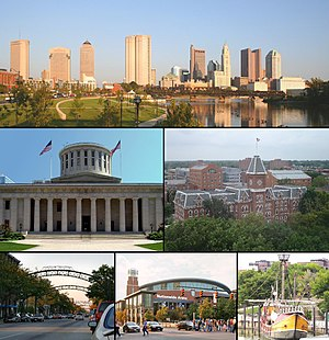 Montage of Columbus, Ohio images. From top to ...