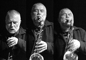 English: Peter Brötzmann Français : Peter Bröt...